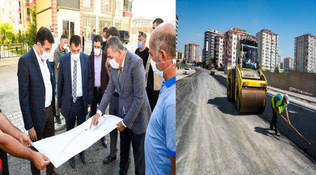 Başkan Gürkan, Çiftlik Caddesinde Devam Eden Çalışmaları Yerinde İnceledi