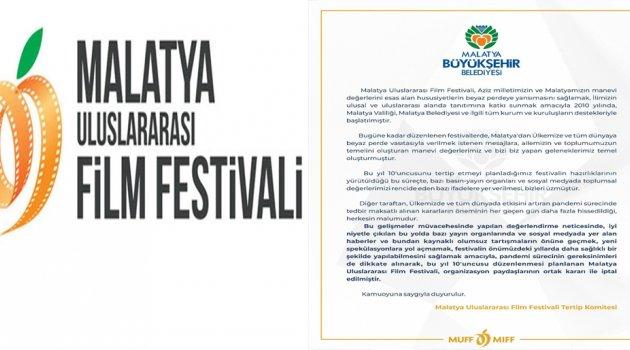 Flim Festivali (MUFF) İptal Edildi