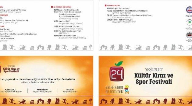 24.Yeşilyurt Kültür, Kiraz ve Spor Festivali İçin Hazırlıklar Tamamlandı