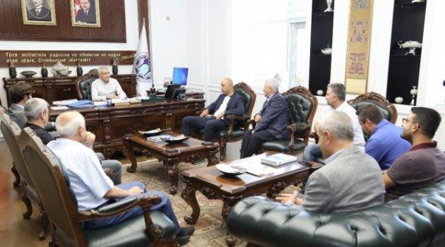 Hamit Altıntop Ve Tolunay Kafkas'tan Başkan Güder'e Ziyareti