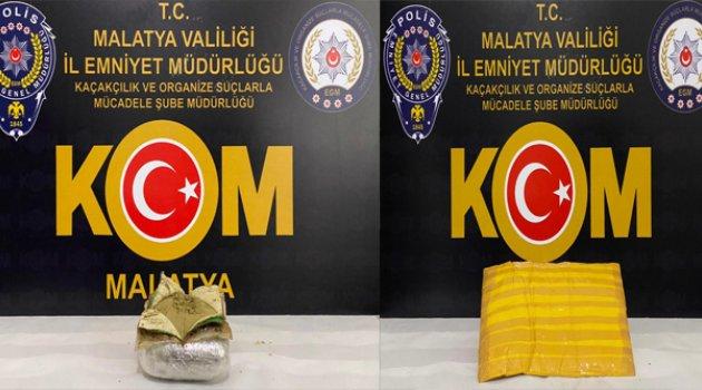 Malatya'da 2 Yolcu Otobüsünde Uyuşturucu Madde Ele Geçirildi