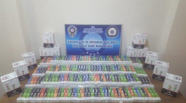 Malatya'da kaçak sigara operasyonu: 2 gözaltı