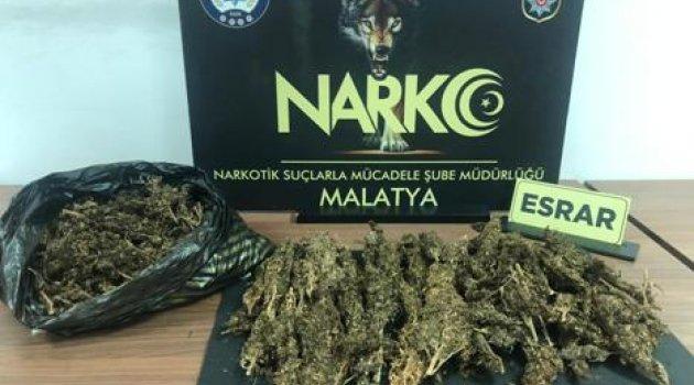 Malatya'da Uyuşturucudan 1 Tutuklama