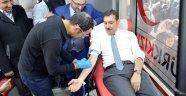 HABER VİDEOLU Bakan Tüfenkçi'den Mehmetçikler için Kan bağışı