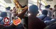 Malatya 'da Halk Otobüsünde Şoke Eden Görüntüler